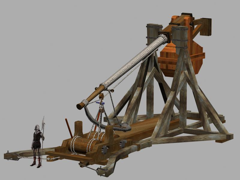 a report on knights and the major siege weapons and techniques catapults crossbows ballistas siege t